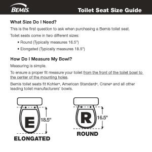 how to measure a toilet bowl