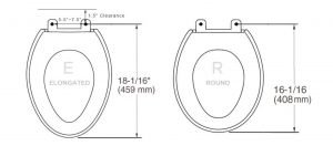 measure toilet seat