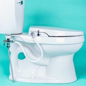geniebidet self cleaning dual nozzles ultra thin style non electric toilet attachment