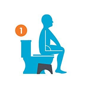 """Squatty Potty The Original Bathroom Toilet Stool White 7"""""""